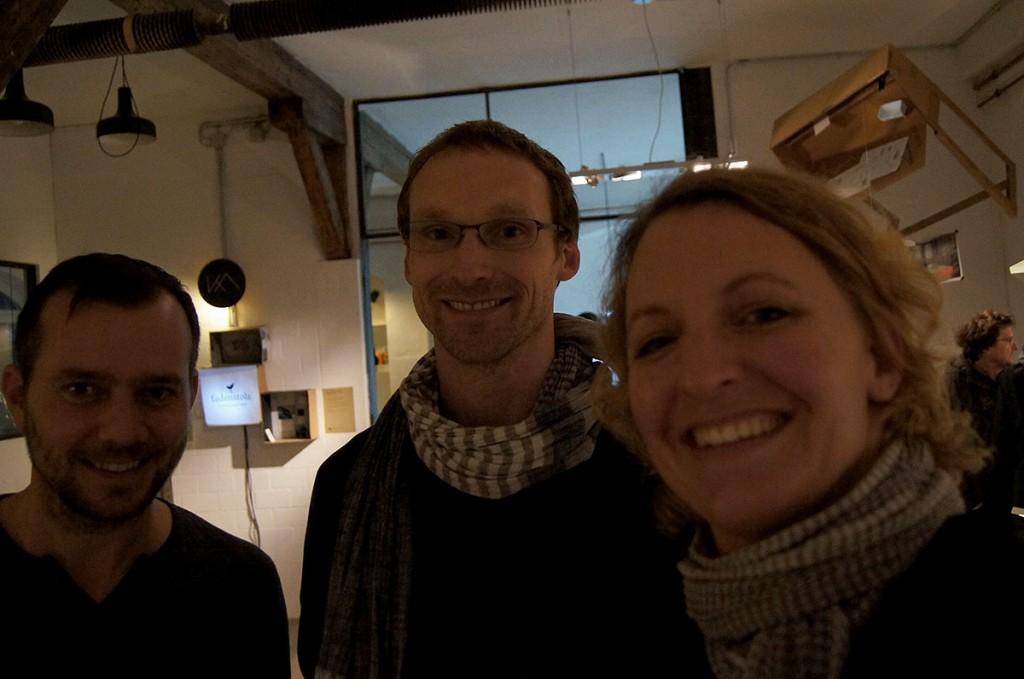 Olof Schlittenhardt, Jannis Ellenberger und Katrin Adler
