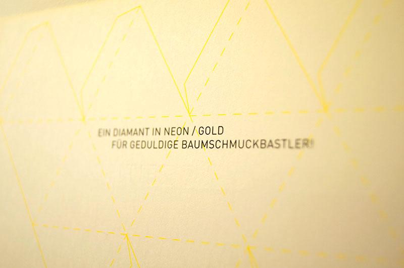 Katrin Adler Karte in Neon und Gold