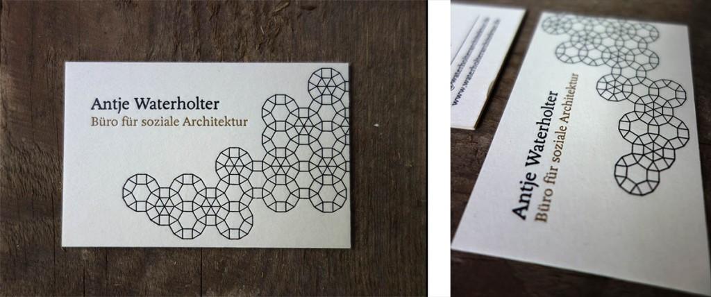 Design Visitenkarte Letterpress Buchdruck