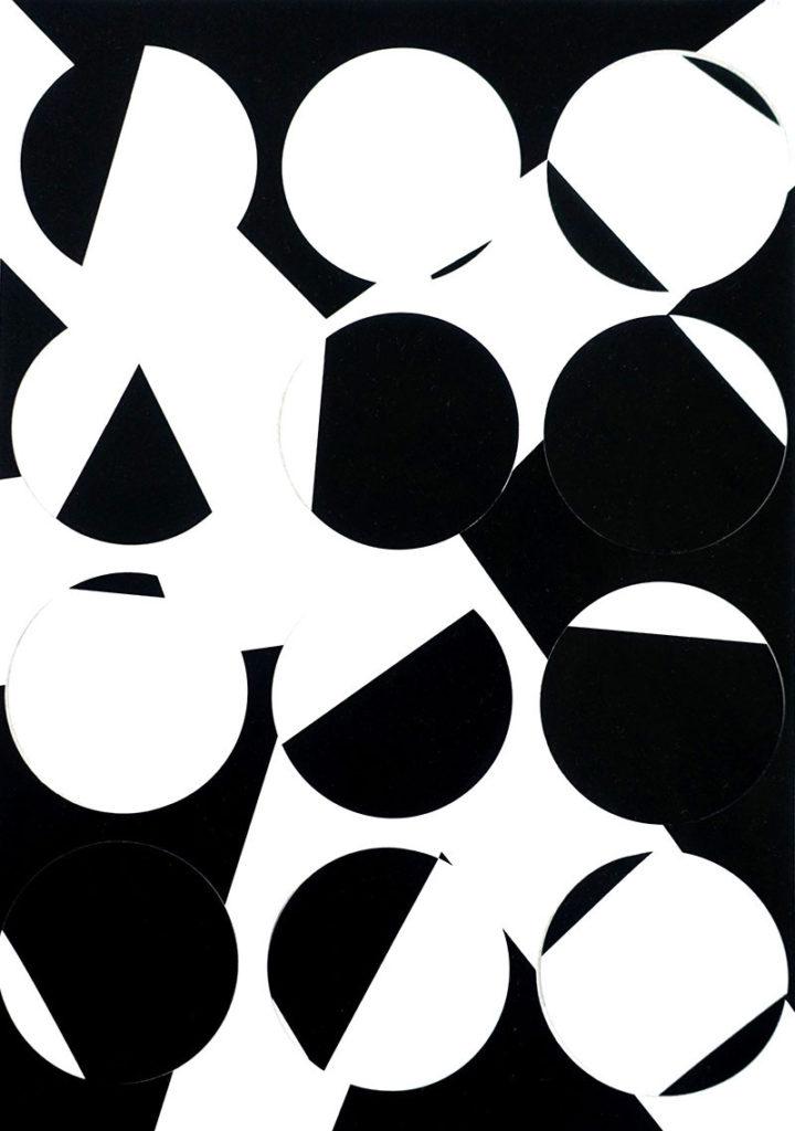 Kreise schwarz und weiß
