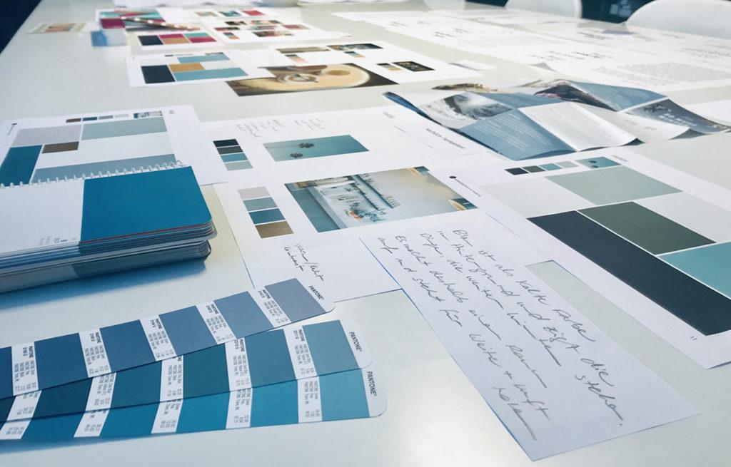 Teil des Designsystems: Farbkonzept für eine Kundin aus dem Bereich Gesundheitswesen